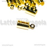 25 Terminali in rame gold plated 12x5mm