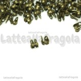 25 Coprinodo in rame color bronzo 4x3.5mm