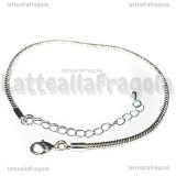Base Bracciale tipo pandora in rame silver plated 19cm